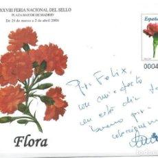 Sellos: SOBRE EP FERIA DEL SELLO 2006 CON FIRMA Y DEDICATORIA DE Dª CARMEN CALVO VICEPRESIDENTA GOBIERNO. Lote 135195114
