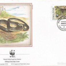 Sellos: SOBRE PRIMER DIA MOLDOVA 1987 ANIMALES SERPIENTES WWW. Lote 154933214