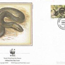Sellos: SOBRE PRIMER DIA MOLDOVA 1987 ANIMALES SERPIENTES WWW. Lote 154933274
