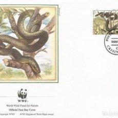 Sellos: SOBRE PRIMER DIA MOLDOVA 1987 ANIMALES SERPIENTES WWW. Lote 154933334