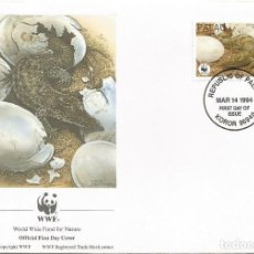 Sellos: SOBRE PRIMER DIA PALAU 1994 ANIMALES COCODRILOS WWW. Lote 154933538