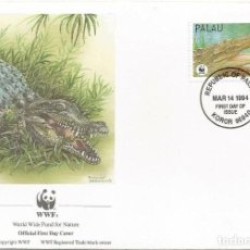 Sellos: SOBRE PRIMER DIA PALAU 1994 ANIMALES COCODRILOS WWW. Lote 154933598