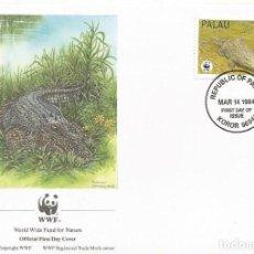 Sellos: SOBRE PRIMER DIA PALAU 1994 ANIMALES COCODRILOS WWW. Lote 154933646