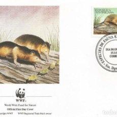 Sellos: SOBRE PRIMER DIA REPUBLICA DOMINICANA 1994 ANIMALES WWW. Lote 154933906