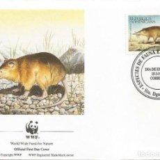Sellos: SOBRE PRIMER DIA REPUBLICA DOMINICANA 1994 ANIMALES WWW. Lote 154933942