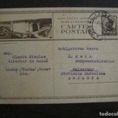 Sellos: RUMANIA-ENTERO POSTAL-AÑO 1936-VER FOTOS-(58.426). Lote 159128918