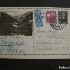 Sellos: REPUBLICA CHECA-KRKONOSE-ENTERO POSTAL-VER FOTOS-(58.427). Lote 159129142