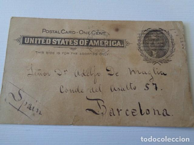 ESTADOS UNIDOS. CHATTANOOGA. ENVIADA A BARCELONA. 1902 (Sellos - Extranjero - Entero postales)