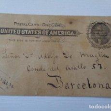 Sellos: ESTADOS UNIDOS. CHATTANOOGA. ENVIADA A BARCELONA. 1902. Lote 162469102