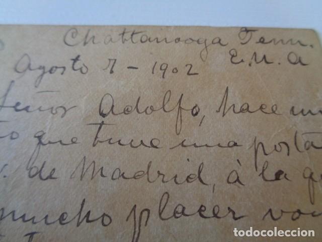 Sellos: ESTADOS UNIDOS. CHATTANOOGA. ENVIADA A BARCELONA. 1902 - Foto 2 - 162469102