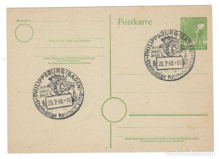 ALEMANIA 1948 / PHILIPPSBURG (BADEN) - 600 JAHRE STADT (Sellos - Extranjero - Entero postales)