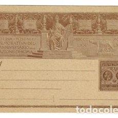 Sellos: 1895 ITALIA ENTERO POSTAL CARTOLINA XXV ANIVERSARIO LIBERAZIONE DI ROMA REY UMBERTO I 10 CENT. Lote 169086152