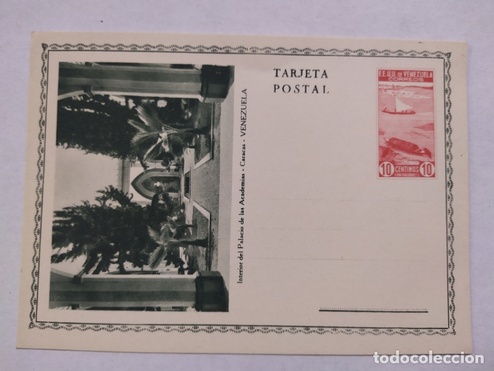 VENEZUELA-PALACIO DE LAS ACADEMIAS-ENTERO POSTAL-VER REVERSO-(61.510) (Sellos - Extranjero - Entero postales)
