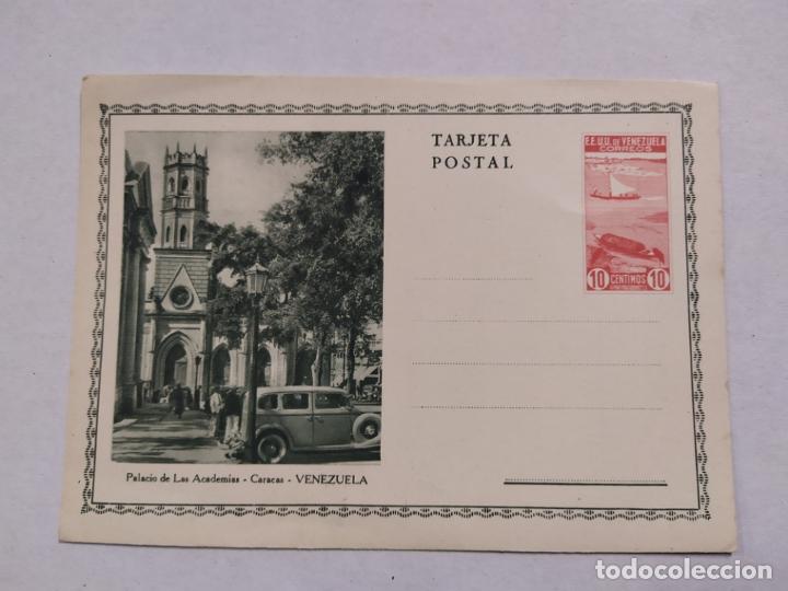 VENEZUELA-CARACAS-PALACIO DE LAS ACADEMIAS-ENTERO POSTAL-VER REVERSO-(61.512) (Sellos - Extranjero - Entero postales)