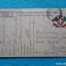 Sellos: CORRESPONDENCIA DEL REAL EJERCITO ITALIANO. AÑO 1917. CERTIFICATO PER CENSURA. CAPITÁN 4º BATALLÓN.. Lote 177262670