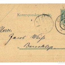 Sellos: AUSTRIA ENTERO POSTAL CORRESPONDENZ KART TARJETA 5 KR - CIRC 1905 -MATASELLOS GRAZ. Lote 179252732