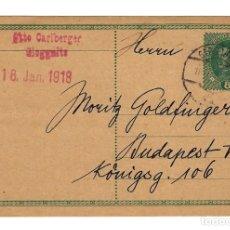 Sellos: AUSTRIA ENTERO POSTAL CORRESPONDENZ KART TARJETA 8 KR - CIRCULADA 1918. Lote 179254497