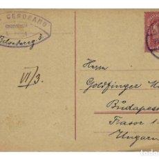 Sellos: AUSTRIA ENTERO POSTAL CORRESPONDENZ KART TARJETA 10 KR - CIRCULADA 1919. Lote 179254616