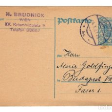 Sellos: AUSTRIA ENTERO POSTAL CORRESPONDENZ KART TARJETA 2 KR - CIRCULADA 1921. Lote 179254750