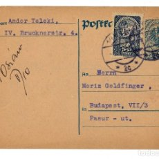 Sellos: AUSTRIA ENTERO POSTAL CORRESPONDENZ KART TARJETA 50 HELLER + 50 - CIRCULADA 1921. Lote 179254953