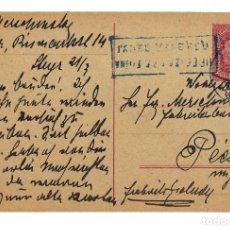 Sellos: AUSTRIA ENTERO POSTAL CORRESPONDENZ KART TARJETA 10 HELLER - CIRCULADA 1919 - SELLO YVERT 146. Lote 179255571