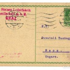 Sellos: AUSTRIA ENTERO POSTAL CORRESPONDENZ KART TARJETA 5 HELLER - MICHEL 1908 - CIRCULADA 1915. Lote 179256156