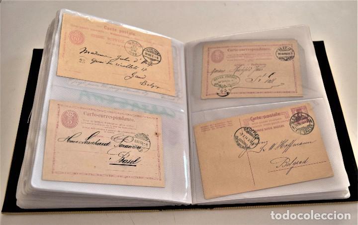 INCREÍBLE ÁLBUM CON 135 ENTEROS POSTALES CIRCULADOS DE PAÍSES EUROPEOS DE 1877 HASTA PRINC. SIGLO XX (Sellos - Extranjero - Entero postales)