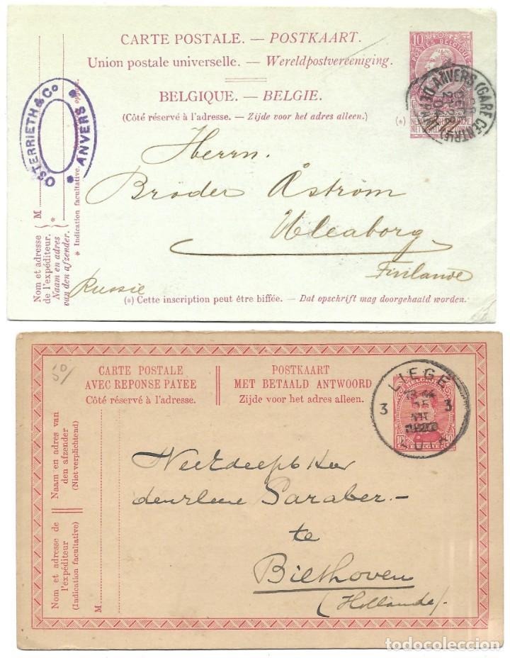 Sellos: INCREÍBLE ÁLBUM CON 135 ENTEROS POSTALES CIRCULADOS DE PAÍSES EUROPEOS DE 1877 HASTA PRINC. SIGLO XX - Foto 3 - 190057928