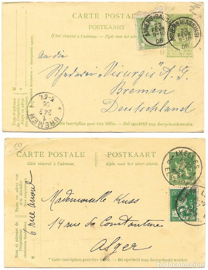 Sellos: INCREÍBLE ÁLBUM CON 135 ENTEROS POSTALES CIRCULADOS DE PAÍSES EUROPEOS DE 1877 HASTA PRINC. SIGLO XX - Foto 4 - 190057928