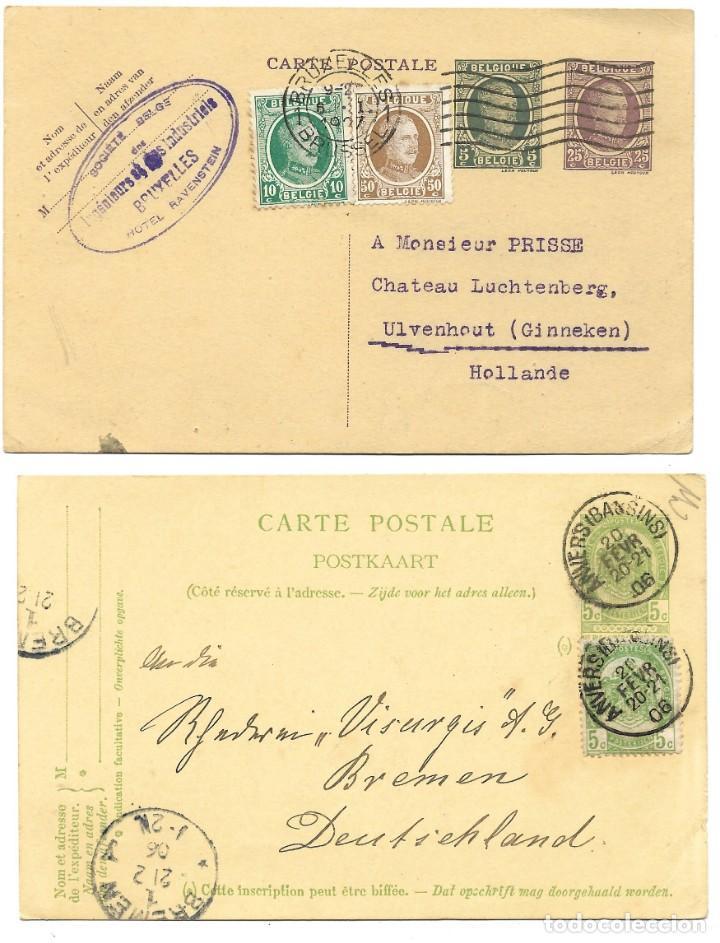 Sellos: INCREÍBLE ÁLBUM CON 135 ENTEROS POSTALES CIRCULADOS DE PAÍSES EUROPEOS DE 1877 HASTA PRINC. SIGLO XX - Foto 5 - 190057928