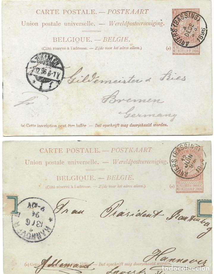 Sellos: INCREÍBLE ÁLBUM CON 135 ENTEROS POSTALES CIRCULADOS DE PAÍSES EUROPEOS DE 1877 HASTA PRINC. SIGLO XX - Foto 9 - 190057928