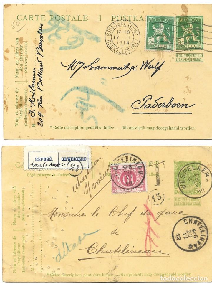 Sellos: INCREÍBLE ÁLBUM CON 135 ENTEROS POSTALES CIRCULADOS DE PAÍSES EUROPEOS DE 1877 HASTA PRINC. SIGLO XX - Foto 14 - 190057928