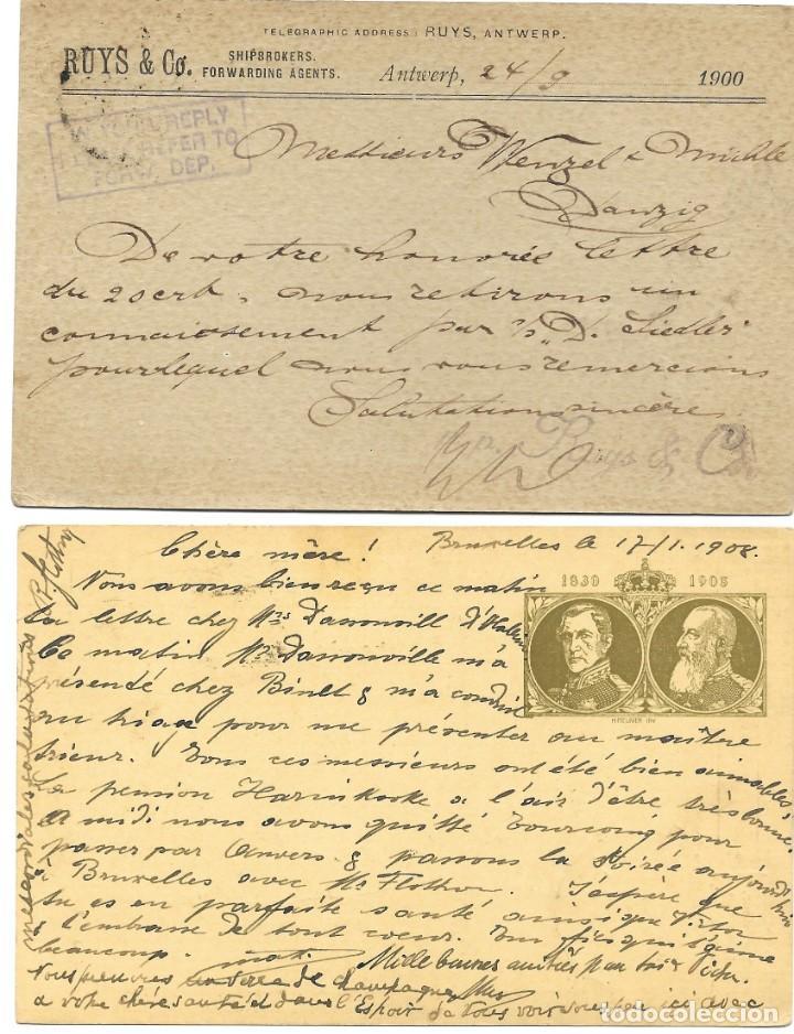 Sellos: INCREÍBLE ÁLBUM CON 135 ENTEROS POSTALES CIRCULADOS DE PAÍSES EUROPEOS DE 1877 HASTA PRINC. SIGLO XX - Foto 16 - 190057928