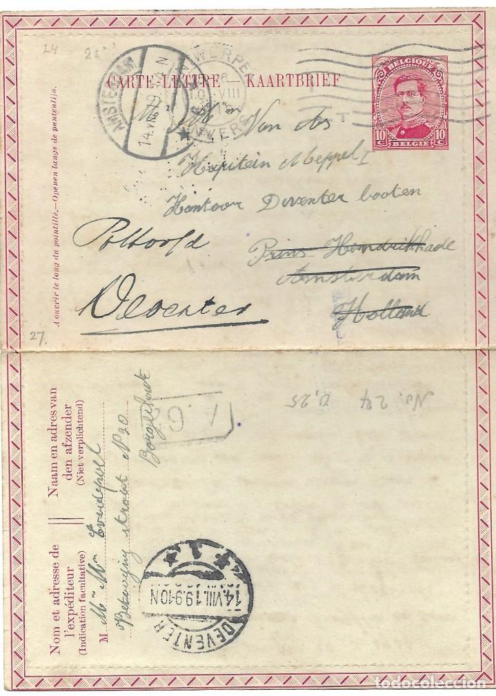 Sellos: INCREÍBLE ÁLBUM CON 135 ENTEROS POSTALES CIRCULADOS DE PAÍSES EUROPEOS DE 1877 HASTA PRINC. SIGLO XX - Foto 17 - 190057928