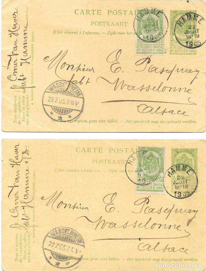 Sellos: INCREÍBLE ÁLBUM CON 135 ENTEROS POSTALES CIRCULADOS DE PAÍSES EUROPEOS DE 1877 HASTA PRINC. SIGLO XX - Foto 24 - 190057928