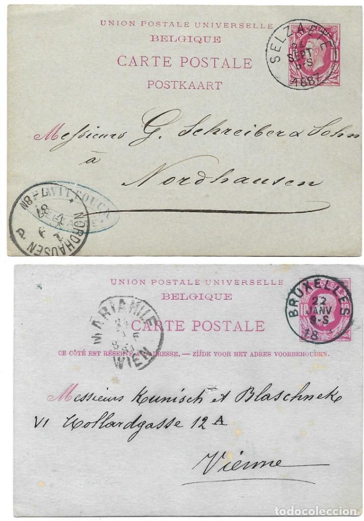 Sellos: INCREÍBLE ÁLBUM CON 135 ENTEROS POSTALES CIRCULADOS DE PAÍSES EUROPEOS DE 1877 HASTA PRINC. SIGLO XX - Foto 30 - 190057928