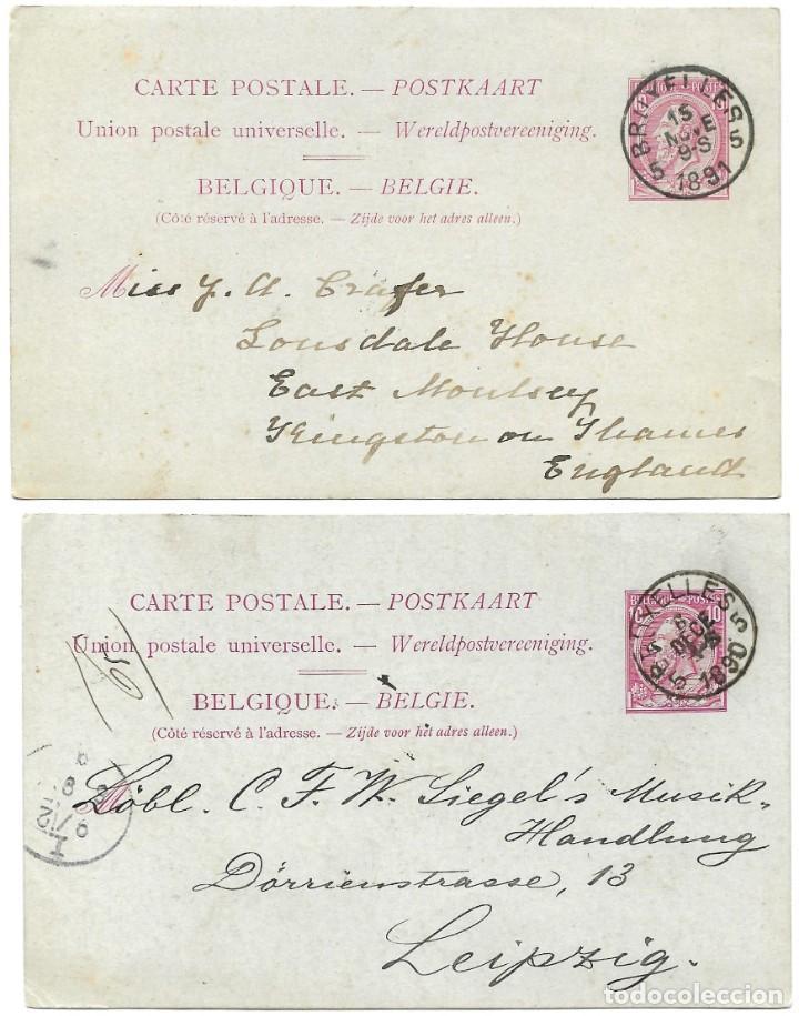 Sellos: INCREÍBLE ÁLBUM CON 135 ENTEROS POSTALES CIRCULADOS DE PAÍSES EUROPEOS DE 1877 HASTA PRINC. SIGLO XX - Foto 31 - 190057928