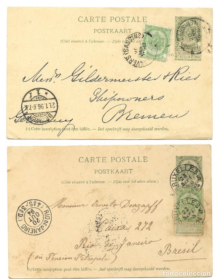 Sellos: INCREÍBLE ÁLBUM CON 135 ENTEROS POSTALES CIRCULADOS DE PAÍSES EUROPEOS DE 1877 HASTA PRINC. SIGLO XX - Foto 38 - 190057928