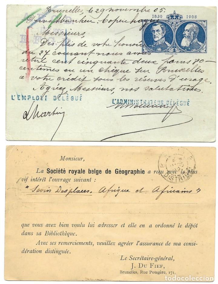 Sellos: INCREÍBLE ÁLBUM CON 135 ENTEROS POSTALES CIRCULADOS DE PAÍSES EUROPEOS DE 1877 HASTA PRINC. SIGLO XX - Foto 42 - 190057928