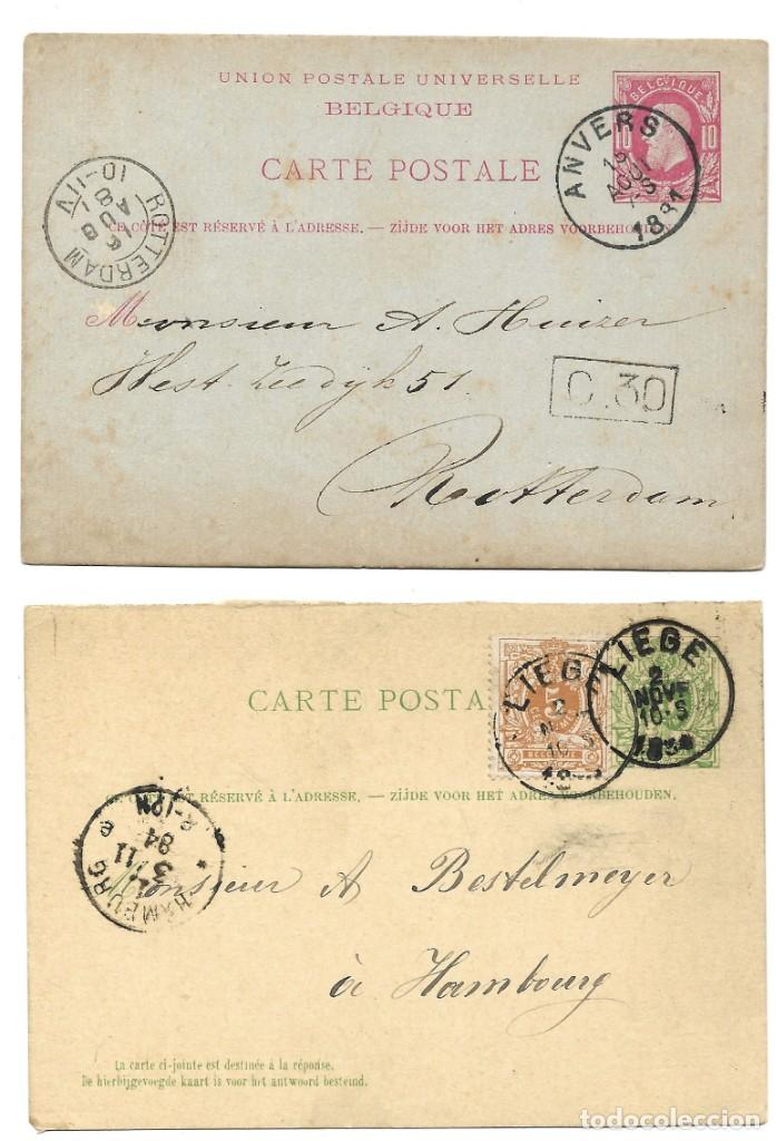 Sellos: INCREÍBLE ÁLBUM CON 135 ENTEROS POSTALES CIRCULADOS DE PAÍSES EUROPEOS DE 1877 HASTA PRINC. SIGLO XX - Foto 45 - 190057928