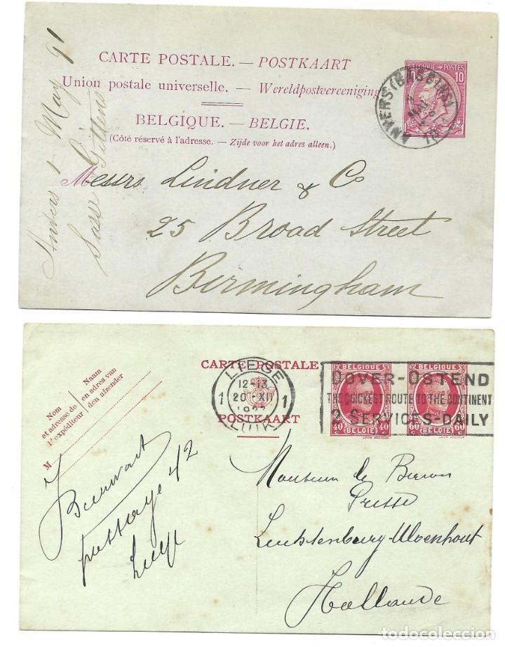 Sellos: INCREÍBLE ÁLBUM CON 135 ENTEROS POSTALES CIRCULADOS DE PAÍSES EUROPEOS DE 1877 HASTA PRINC. SIGLO XX - Foto 48 - 190057928