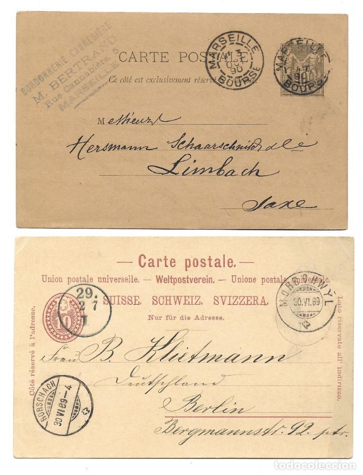 Sellos: INCREÍBLE ÁLBUM CON 135 ENTEROS POSTALES CIRCULADOS DE PAÍSES EUROPEOS DE 1877 HASTA PRINC. SIGLO XX - Foto 53 - 190057928