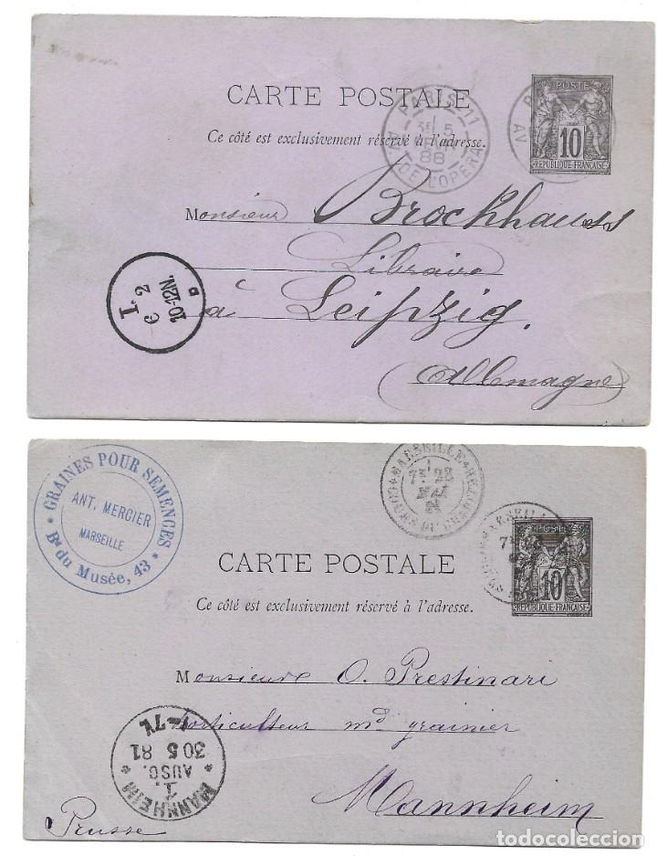 Sellos: INCREÍBLE ÁLBUM CON 135 ENTEROS POSTALES CIRCULADOS DE PAÍSES EUROPEOS DE 1877 HASTA PRINC. SIGLO XX - Foto 54 - 190057928