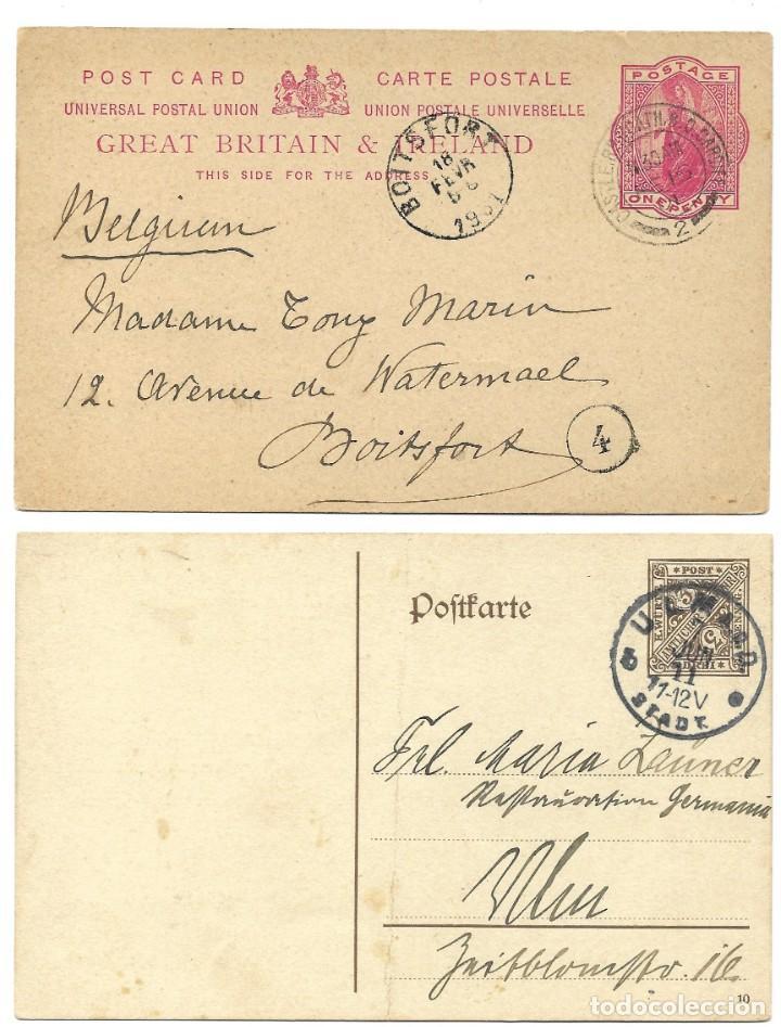 Sellos: INCREÍBLE ÁLBUM CON 135 ENTEROS POSTALES CIRCULADOS DE PAÍSES EUROPEOS DE 1877 HASTA PRINC. SIGLO XX - Foto 55 - 190057928
