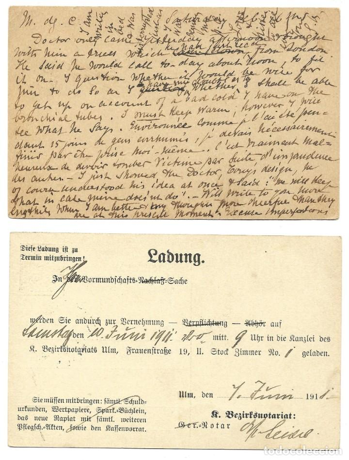 Sellos: INCREÍBLE ÁLBUM CON 135 ENTEROS POSTALES CIRCULADOS DE PAÍSES EUROPEOS DE 1877 HASTA PRINC. SIGLO XX - Foto 56 - 190057928