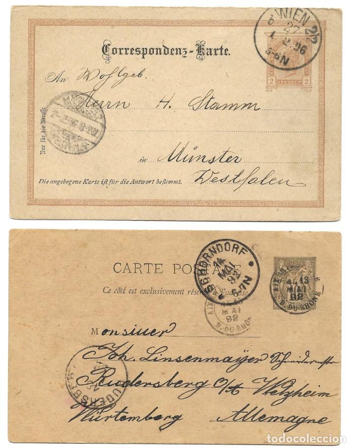 Sellos: INCREÍBLE ÁLBUM CON 135 ENTEROS POSTALES CIRCULADOS DE PAÍSES EUROPEOS DE 1877 HASTA PRINC. SIGLO XX - Foto 57 - 190057928