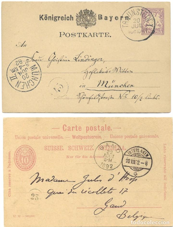 Sellos: INCREÍBLE ÁLBUM CON 135 ENTEROS POSTALES CIRCULADOS DE PAÍSES EUROPEOS DE 1877 HASTA PRINC. SIGLO XX - Foto 58 - 190057928