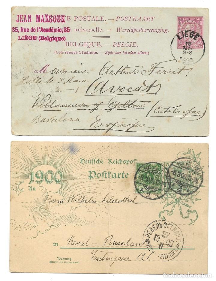 Sellos: INCREÍBLE ÁLBUM CON 135 ENTEROS POSTALES CIRCULADOS DE PAÍSES EUROPEOS DE 1877 HASTA PRINC. SIGLO XX - Foto 59 - 190057928
