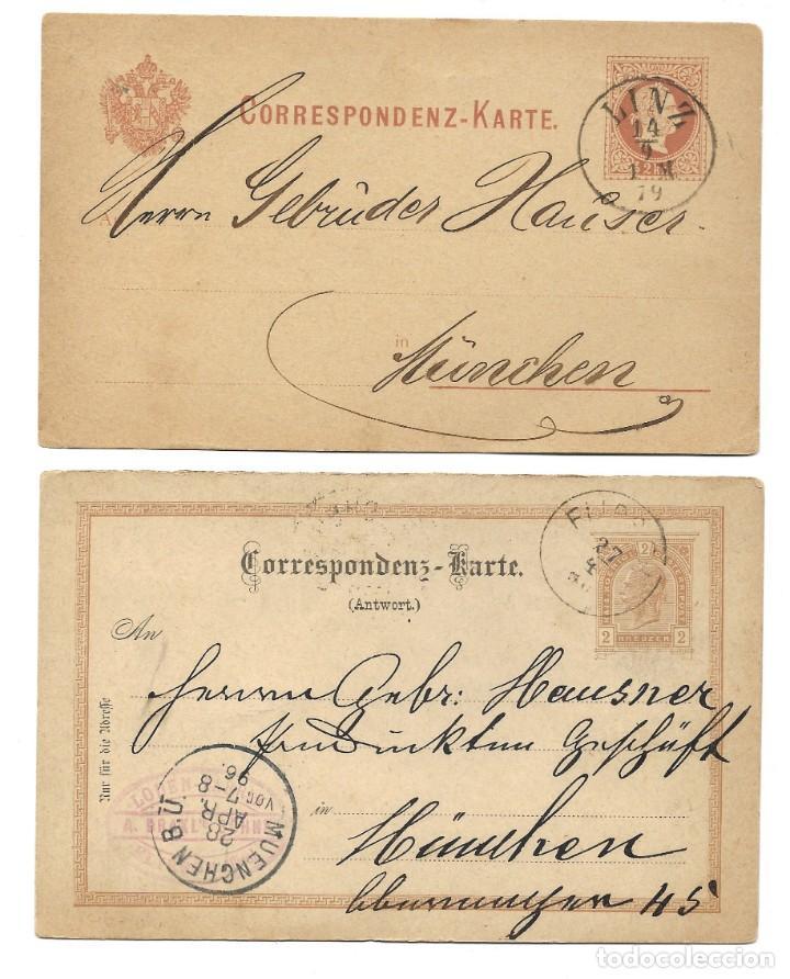 Sellos: INCREÍBLE ÁLBUM CON 135 ENTEROS POSTALES CIRCULADOS DE PAÍSES EUROPEOS DE 1877 HASTA PRINC. SIGLO XX - Foto 60 - 190057928