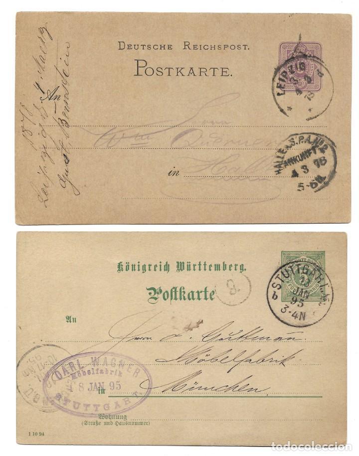 Sellos: INCREÍBLE ÁLBUM CON 135 ENTEROS POSTALES CIRCULADOS DE PAÍSES EUROPEOS DE 1877 HASTA PRINC. SIGLO XX - Foto 61 - 190057928